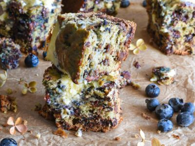 cream cheese blueberry cookie bars