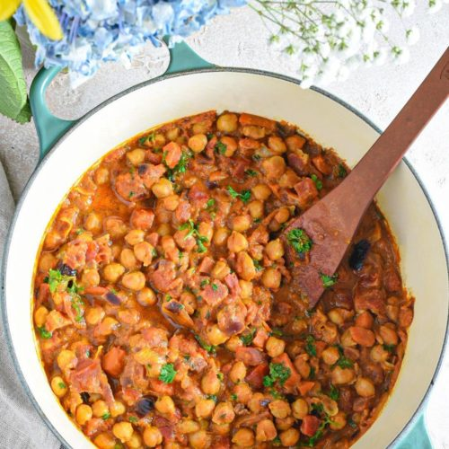freezable curried chickpeas